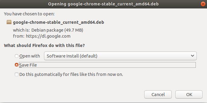 Google Chrome install Ubuntu